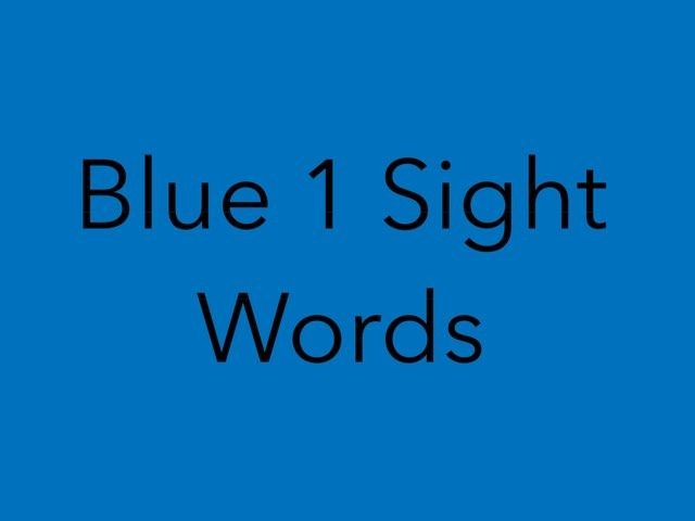 Blue 1 Sight Words. No 2 by Sonia Landers