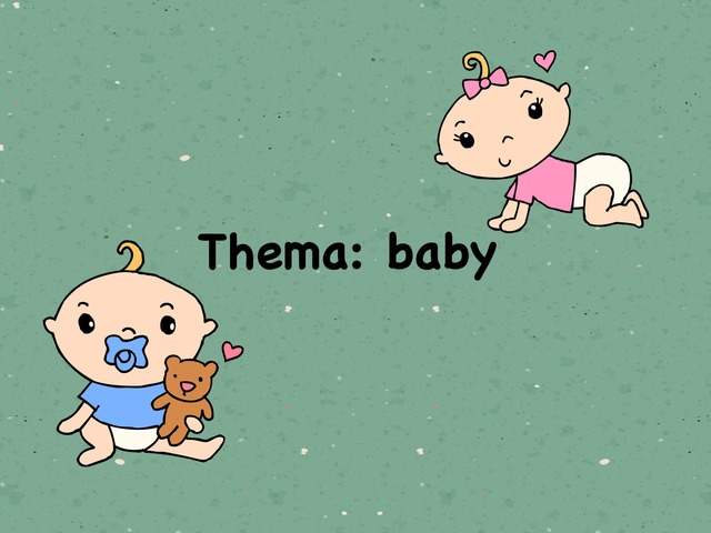 Woordenschat Thema: baby by Glenys de Leijer
