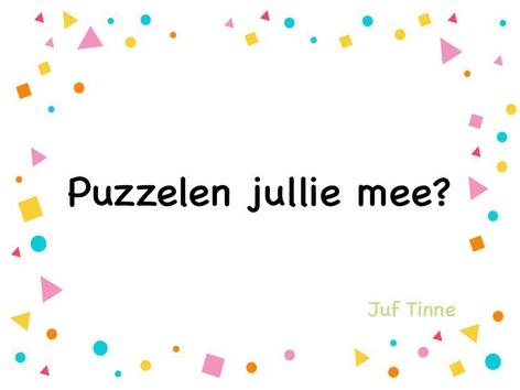 Puzzelen jullie mee? by Tinne Moorkens