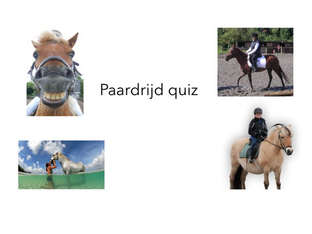 Paardrij Quiz by Astrid