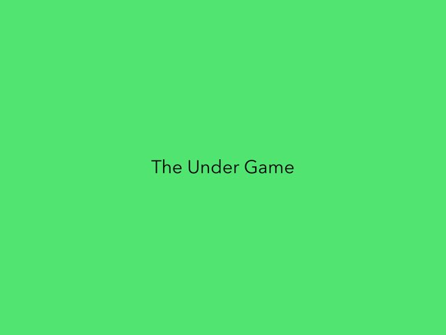 The Under Game 1 by Jenny Lehman