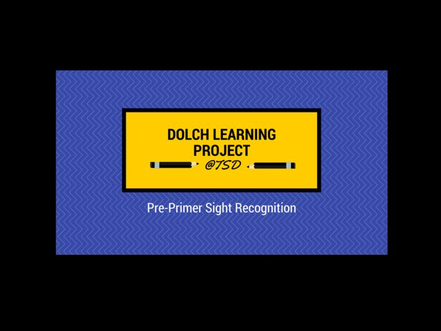 Sign ID 2: Dolch Pre-Primer by TSD Library