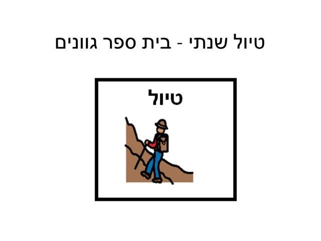 גוונים טיול שנתי by רון טמיר