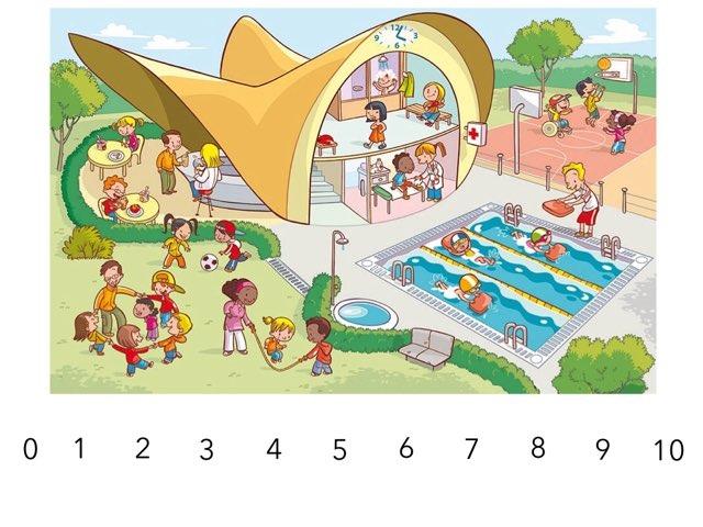 Zoekplaat zwembad: tellen by Sandra van Elburg