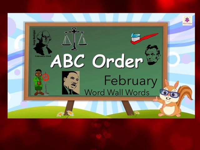 ABC Order ... February Word Wall by Carol Smith