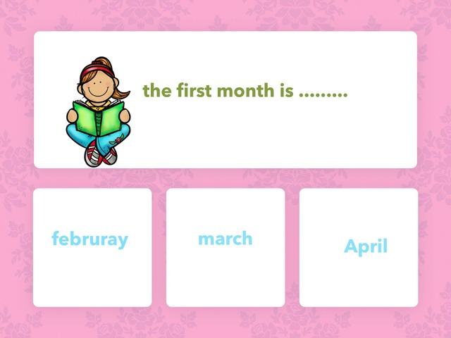 the month of the year  by zoz alshehri