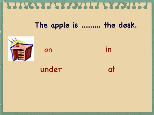 Grade 2 Prepositions by Shaimaa Mezlawy