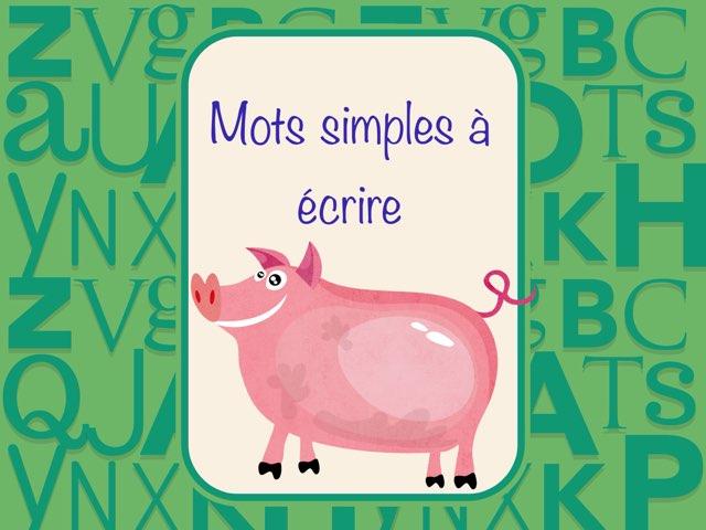 Mots CVCV et VCV à écrire by Marie-Claude GR