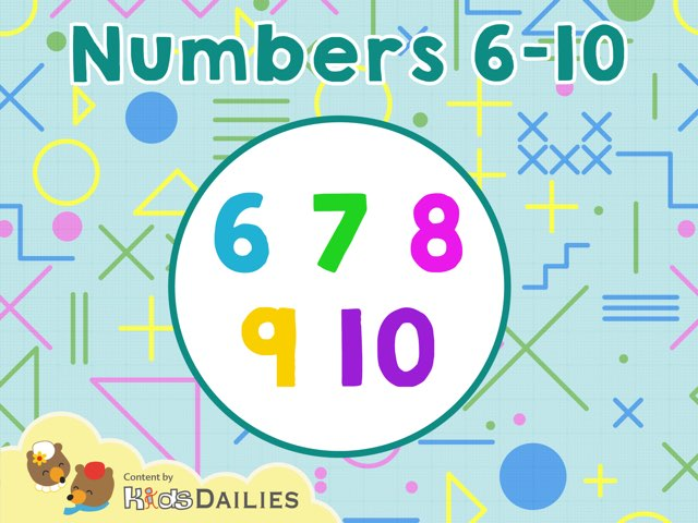 Numbers 6 to 10 by Kids Dailies