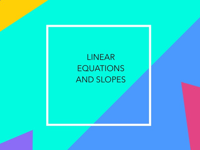 Linear Functions by Christy poole