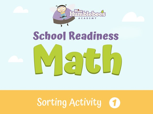 Sorting Activity 1 - School Readiness by Miss Humblebee