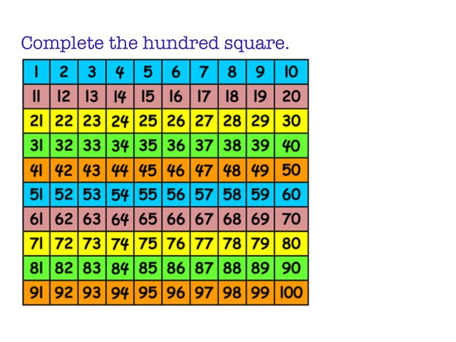 100 Square Puzzle by Chloe whiteford