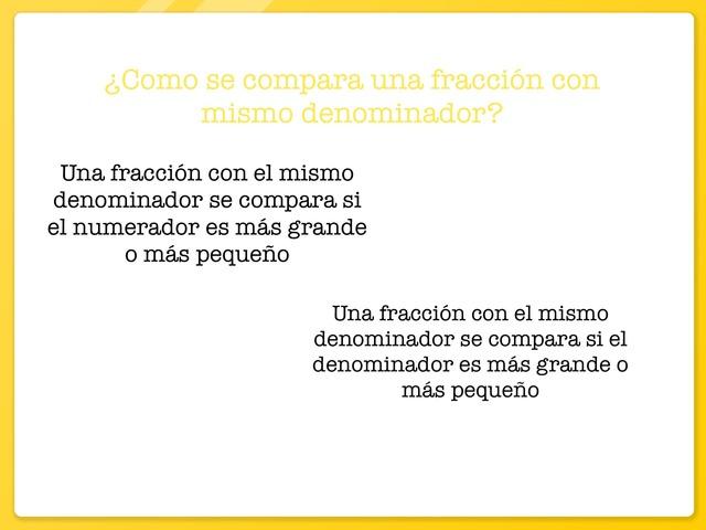 Comparar Fracciones  by ALEX CERVERO MARTÍNEZ