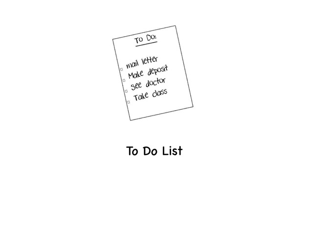 To Do List by Rebecca Jarvis