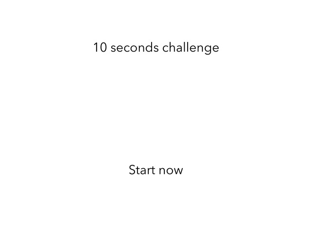 10 Second Challenge 2 Players  by Tristan Lim
