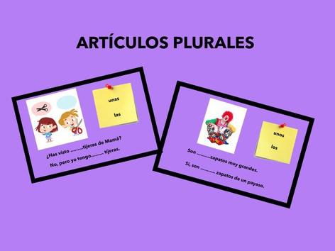ARTÍCULOS EN PLURAL by Francisca Sánchez Martínez