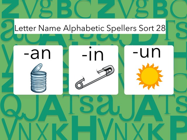 Letter Name Alphabetic Sort 28 by Erin Moody