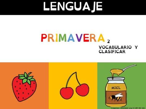 Vocabulario Primavera 2(clasificar) by Sergio Mesa Castellanos