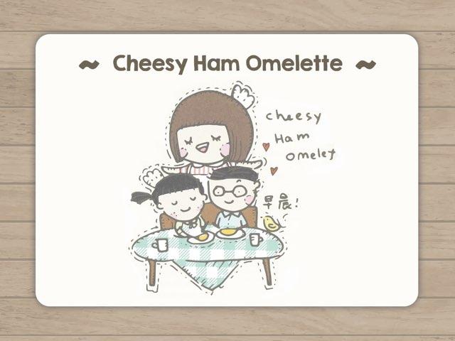 Cheesy Ham Omelette  by Chocolate Rain
