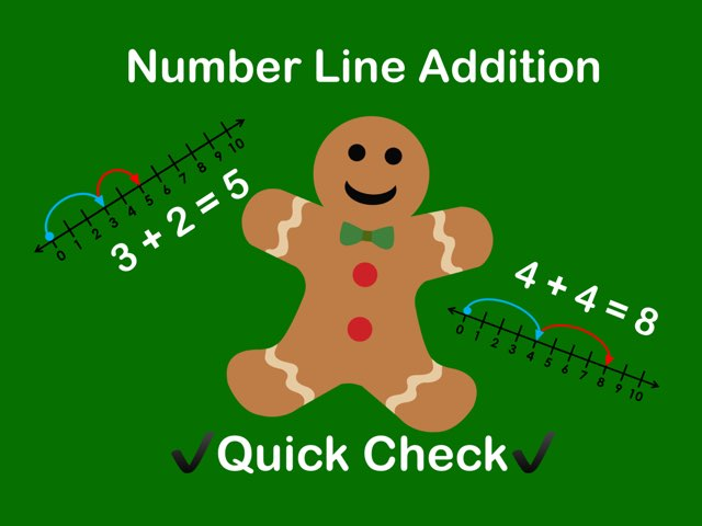 Number Line Addition Quick Check by Jennifer