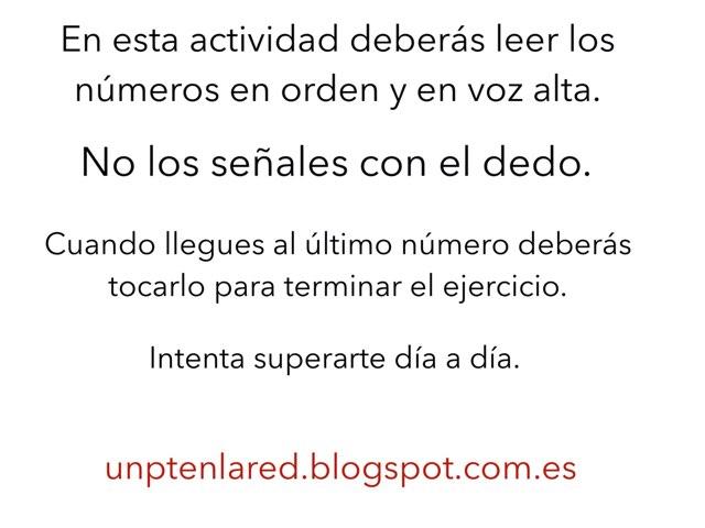 Lectura De Números. Parte 1 by Jose Sanchez Ureña