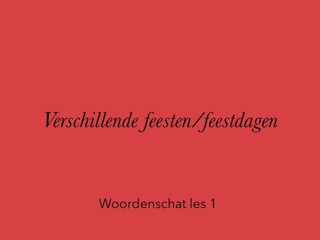 Woordenschat Verschillende Feesten 1 by Jan Knuivers