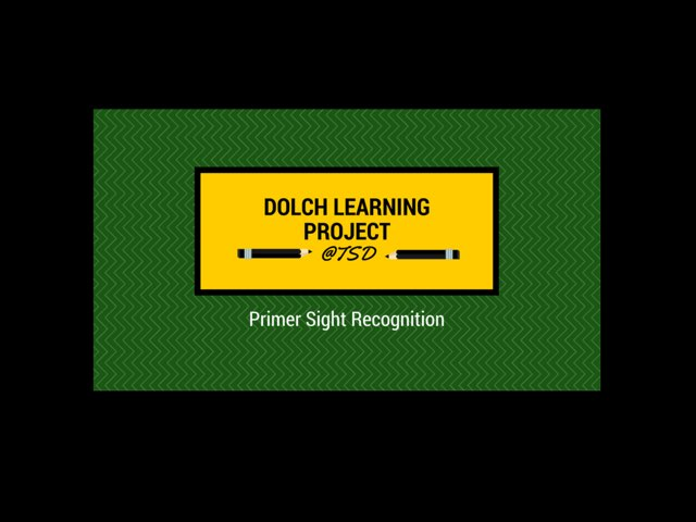 Word ID 2: Dolch Primer by TSD Library