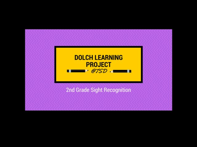 Vocabulary Introduction 2: Dolch 2nd Grade by TSD Library
