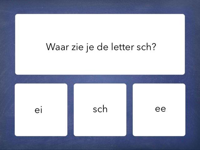 Oefenen met de letter sch. (kern7) by Renske Imthorn