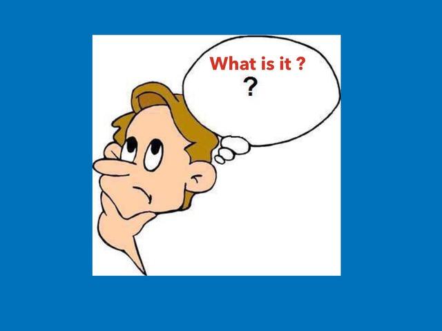What Is It? by Benjamin Lee