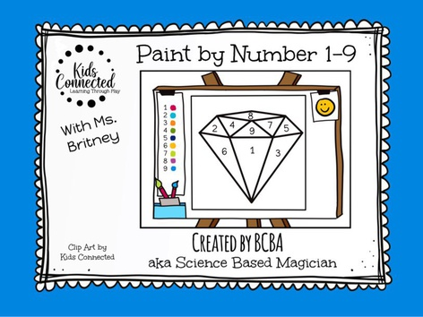 Paint By Number 1-9 Diamond by Kids  Connected