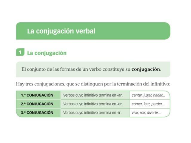 La Conjugación Verbal by Oscar Roncero