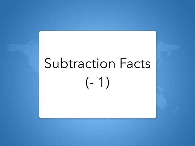 SUBTRACTION (-1) by Lori Board