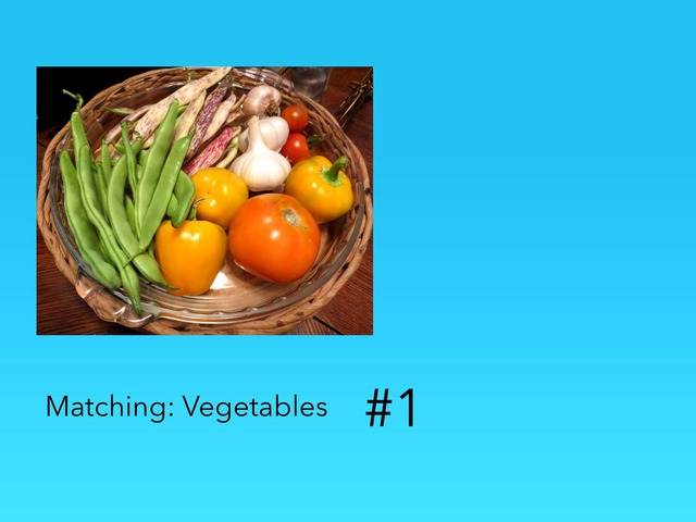 Matching: Vegetables  by Carol Smith
