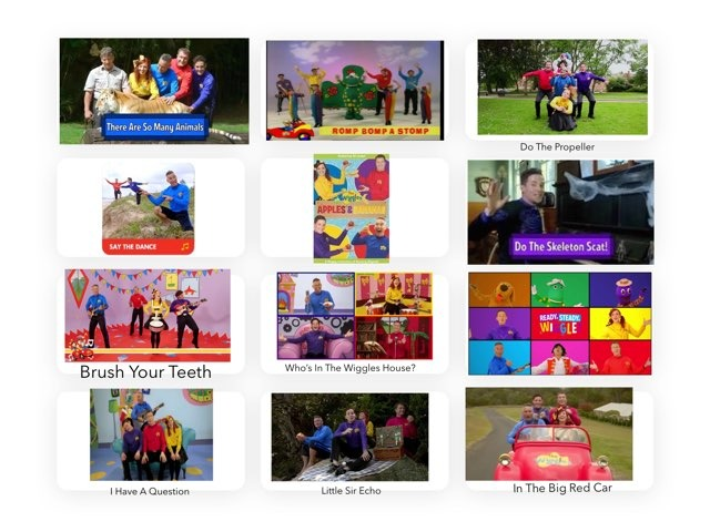 Wiggles Song Board by Kristin Meadows