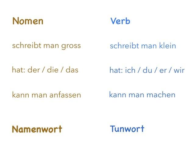 Nomen oder Verb by Marina Ruß