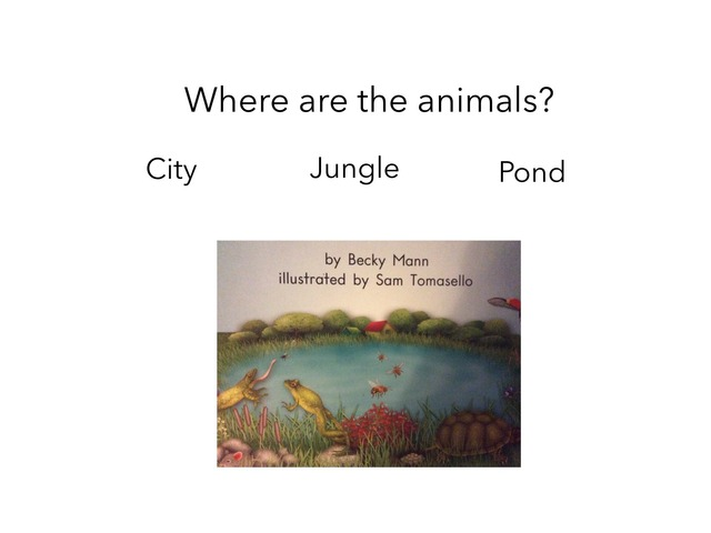 Down By The Pond Comprehension  by Gabrielle Allen