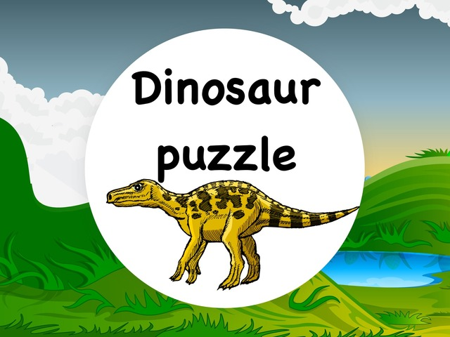 Dinosaur Puzzle by Yam Goddard