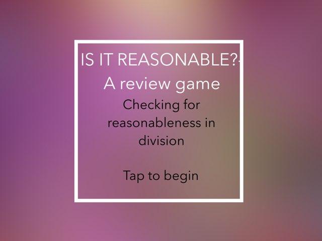 Is It Reasonable? by John Ferrero