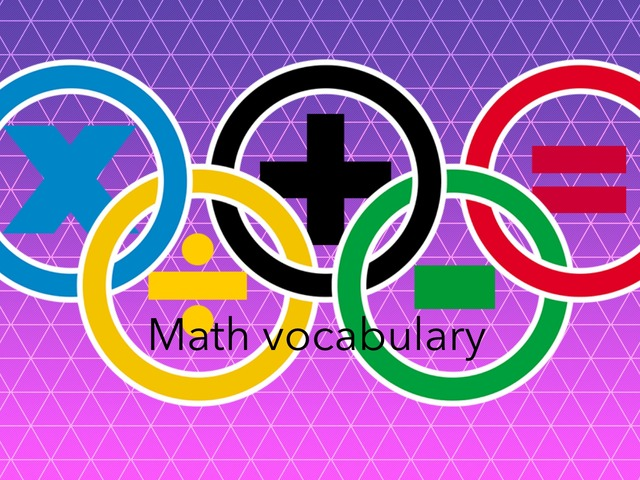 Math. Vocabulary  by Daughtry Holden