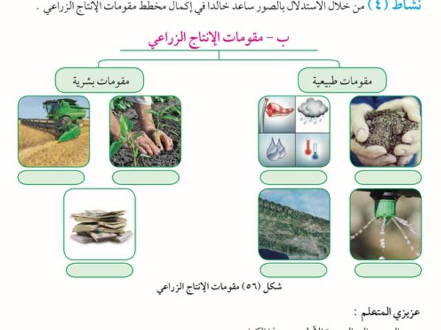 مقومات الانتاج الزراعي by afnan