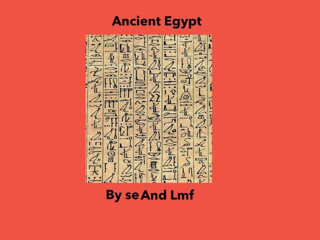 Egypt SE and LMF by Dave Ravenscroft