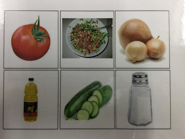 לוח תקשורת  תמונות הכנת סלט ירקות by רחל דביר