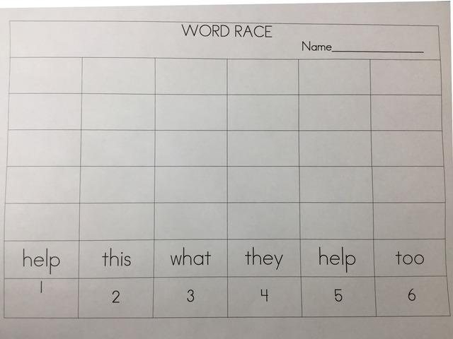Word Race April 16 by ELIZABETH HARTUNG