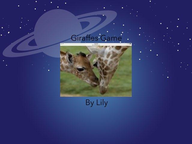 Giraffe Game By Lily by Hulstrom 1st Grade