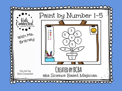 Paint By Numbers 1-5 Flower by Kids  Connected
