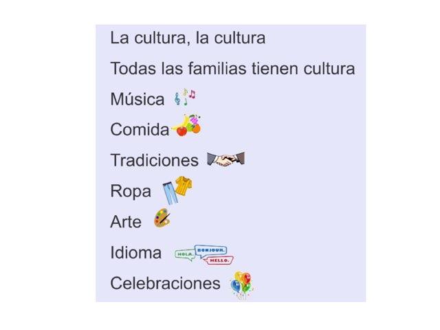 La cultura by Allison Shuda