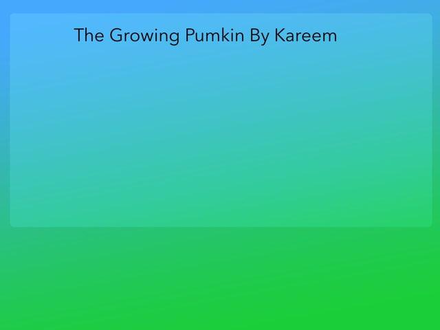 Kareem Pumpkin Life Cycle by Diana Coyne