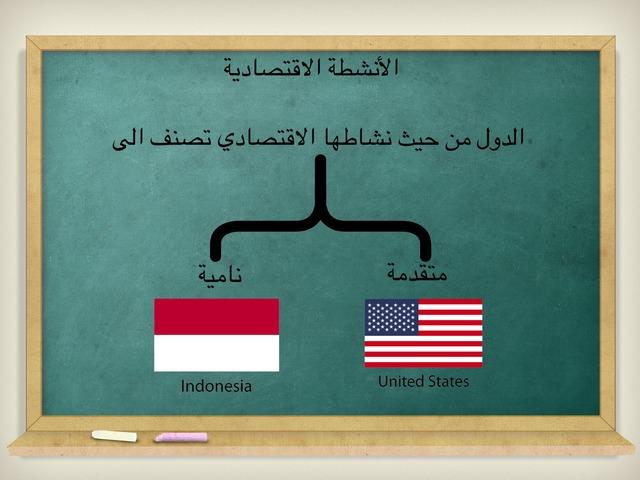 الانشطة الاقتصادية by Amal Saeed