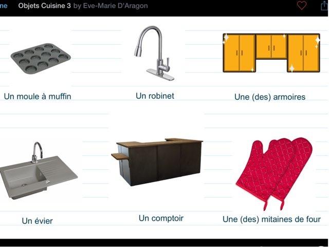 Objets De La Cuisine 3 By Eve Marie D Aragon Educational Games
